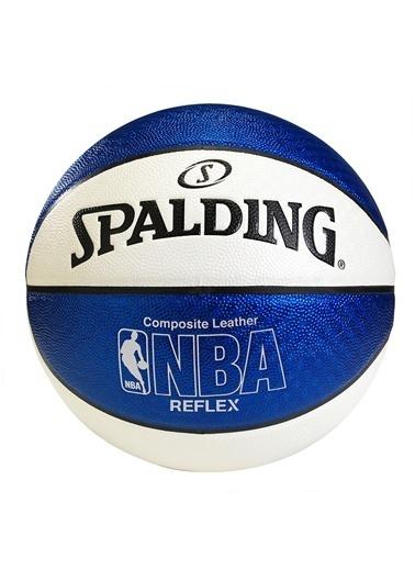 Reflex Mavi-Beyaz No7 Basket Topu-Spalding